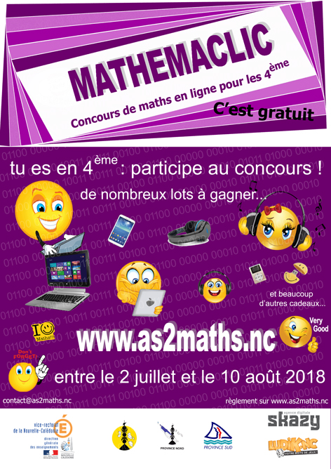 Affiche MATHEMACLIC 2018 WEB